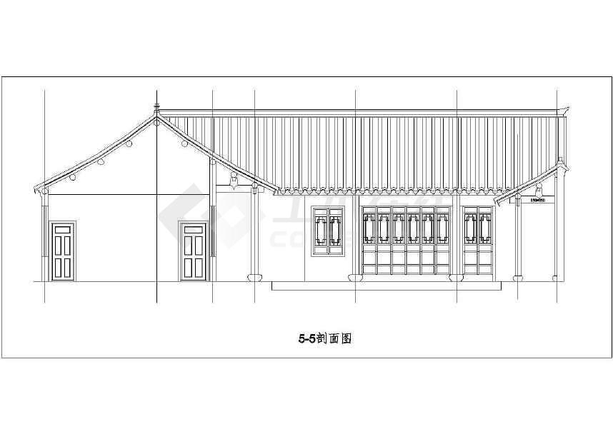 比较实用的四合院建筑图-图2