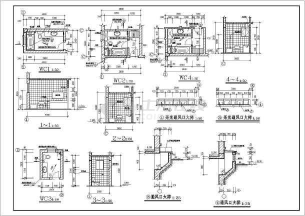 某地大型欧式别墅建筑图(共11张)-图2