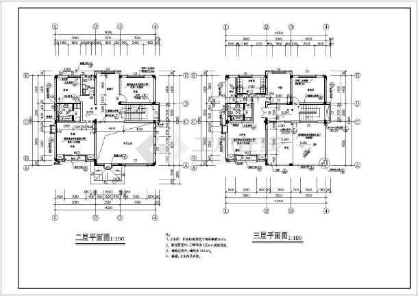 某地大型欧式别墅建筑图(共11张)-图3