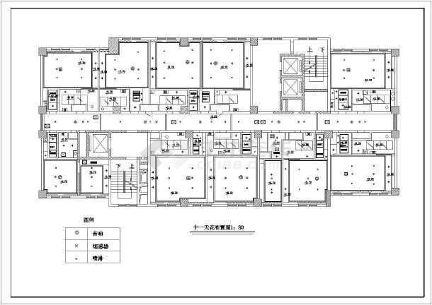 某宾馆客房装修设计cad施工图-图1