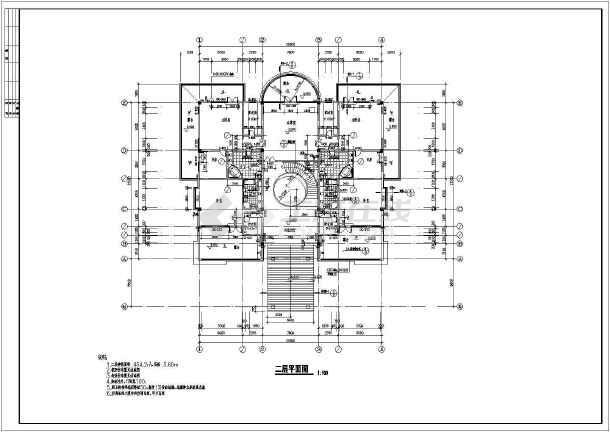某休闲别墅建筑结构建筑施工图(含施工说明)-图1