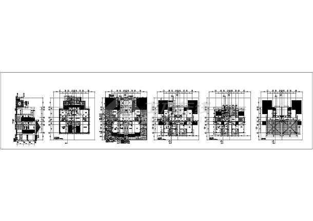 某地大型双拼豪华别墅建筑施工图-图2
