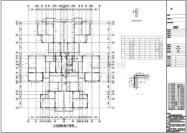 [四川]某31层框支剪力墙综合楼结构设计图-图3