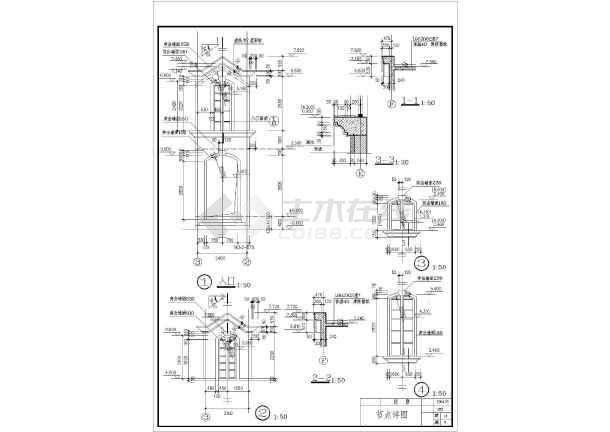 某地美式别墅全套建筑施工图(含施工说明)-图1