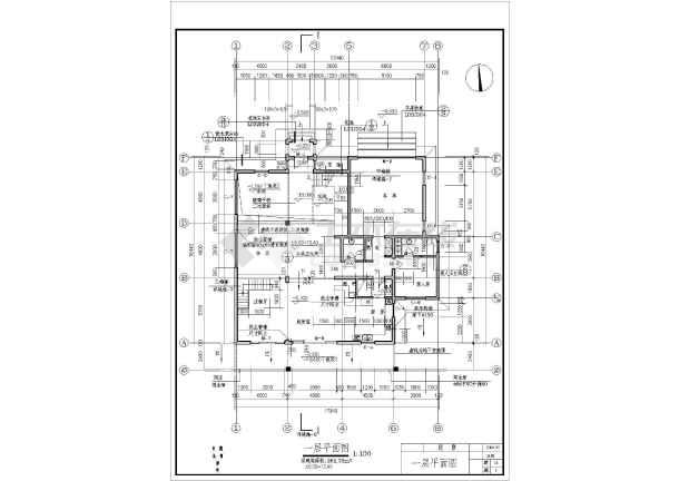 某地美式别墅全套建筑施工图(含施工说明)-图3