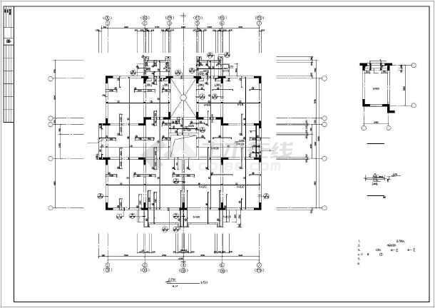 [天津]某8层异形柱框剪结构住宅楼结构施工图-图1