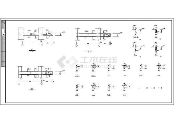 [天津]某8层异形柱框剪结构住宅楼结构施工图-图2