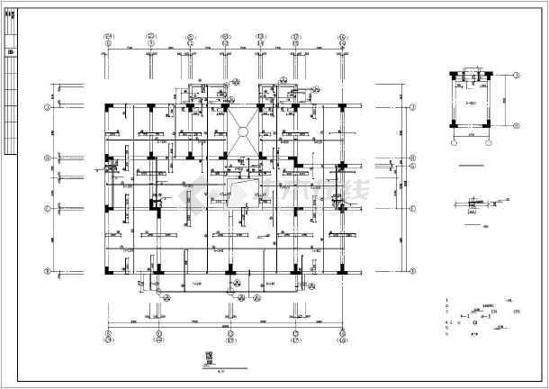 [天津]某8层异形柱框剪结构住宅楼结构施工图-图3