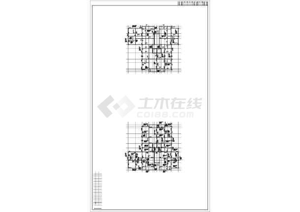 某15层框剪住宅楼结构设计图-图3