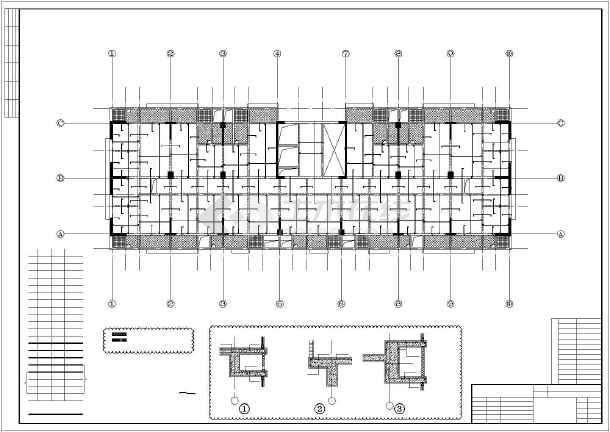 某18层框架-抗震墙住宅结构设计图-图2
