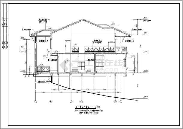 某地两层别墅坡地建筑施工图(共11张)-图1