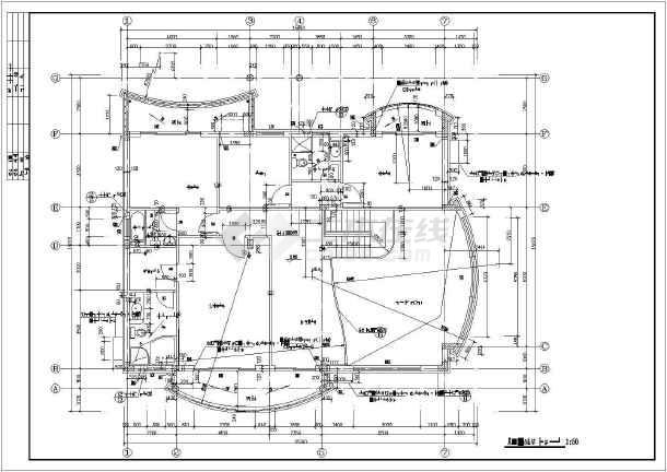 某地两层别墅坡地建筑施工图(共11张)-图2