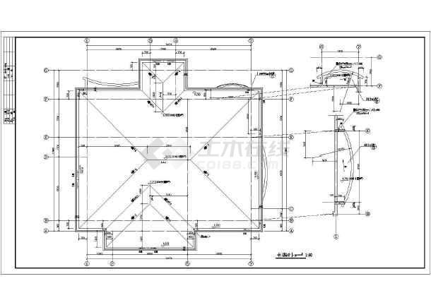 某地两层别墅坡地建筑施工图(共11张)-图3