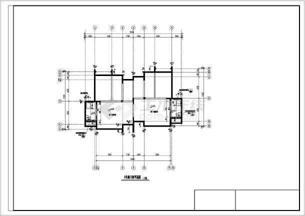 某地大型双拼别墅建筑施工图-图1