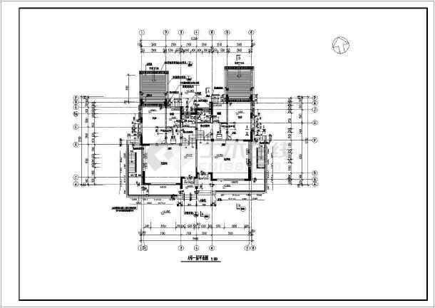 某地大型双拼别墅建筑施工图-图2