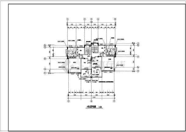 某地大型双拼别墅建筑施工图-图3