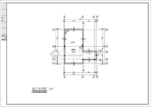 世财滨江文园联体别墅建筑施工图-图1