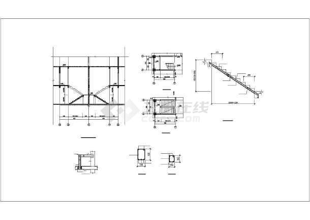 和静县某框架异形柱结构别墅结构设计图