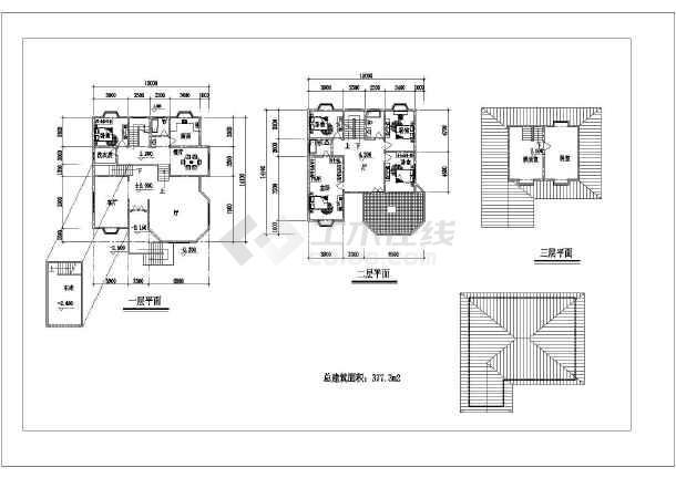 多种别墅户型建筑图纸-图2