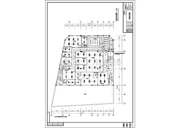 某办公大楼室内装饰强电设计电气图纸-图2