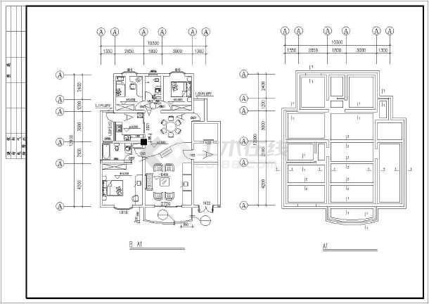 某地区某别墅样板房建筑施工图-图1