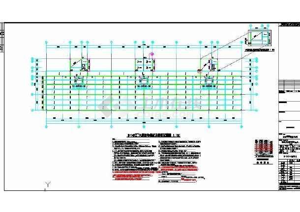 经典的钢结构办公楼建筑cad图纸(节点详细)-图1