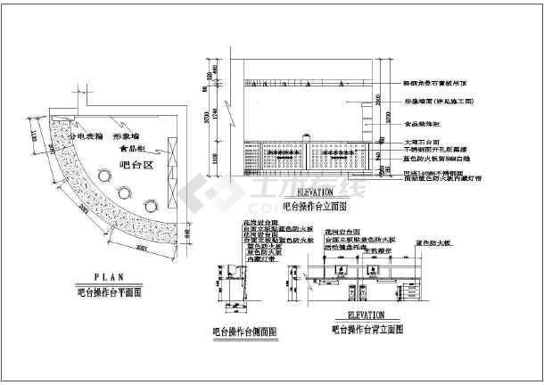 某市网吧设计CAD装修施工图-图2