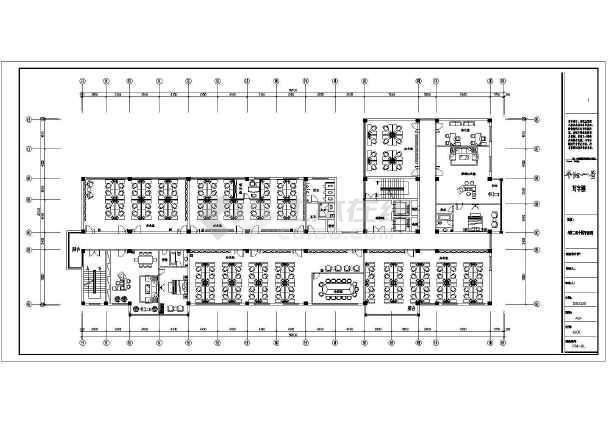 一整套厂房装修设计cad施工图-图3