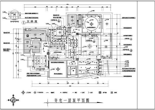 某小区住宅家装施工设计CAD图-图1