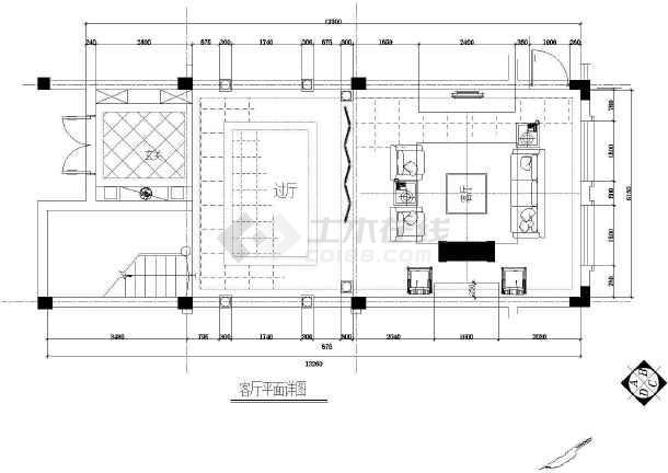 某地整套欧式别墅设计装修图-图1