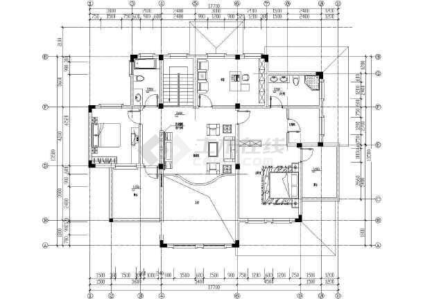 某地整套欧式别墅设计装修图-图2