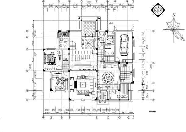 某地整套欧式别墅设计装修图-图3