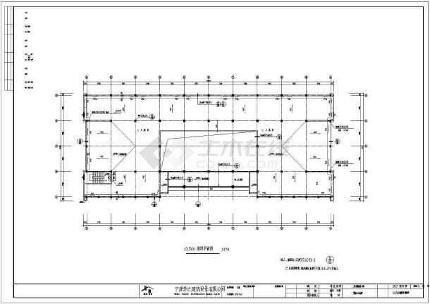 某框架结构综合用房建筑设计cad施工图