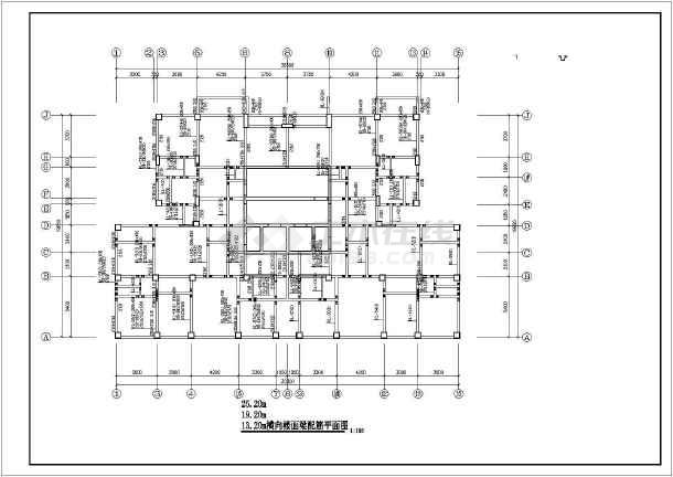某十四层框剪(筒体)结构住宅楼结构设计图-图1