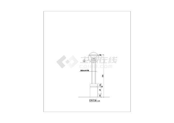 比较经典的庭院灯灯具建筑施工图-图2
