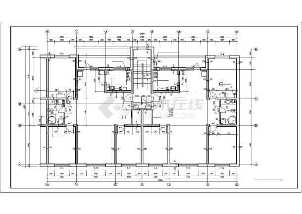 某科技中心办公楼带住宅楼建筑设计施工CAD图-图2