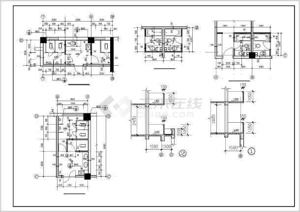 某科技中心办公楼带住宅楼建筑设计施工CAD图-图3