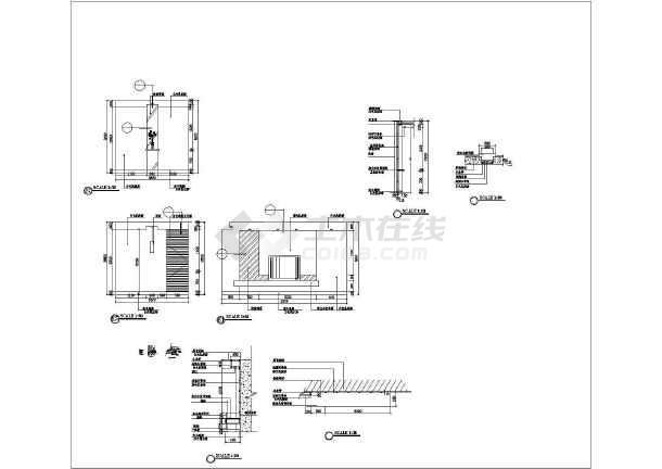 某住宅家装施工设计CAD图纸-图1