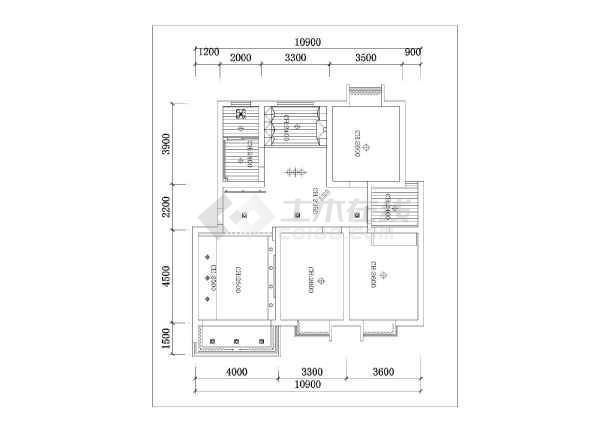 某住宅家装施工设计CAD图纸-图3