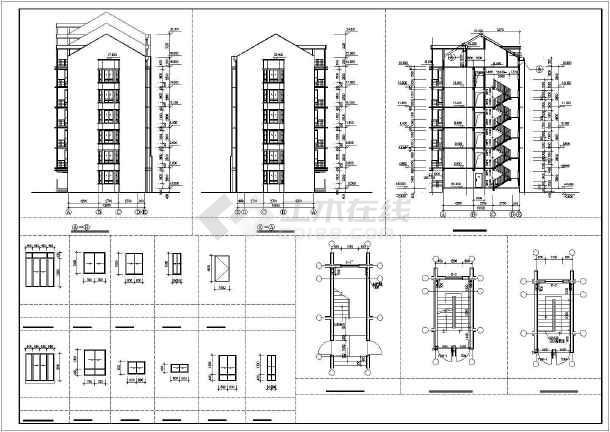 某高级小区住宅楼建筑施工图-图2