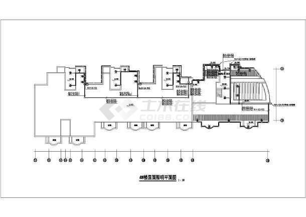 某地住宅楼外墙LED泛光照明设计电气图-图3