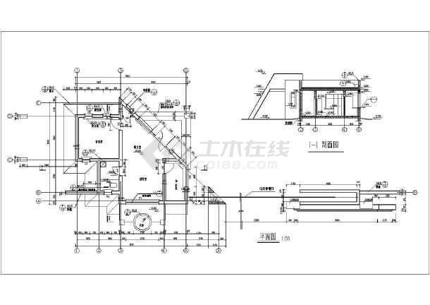 某工厂几套大门建筑设计方案cad图-图1