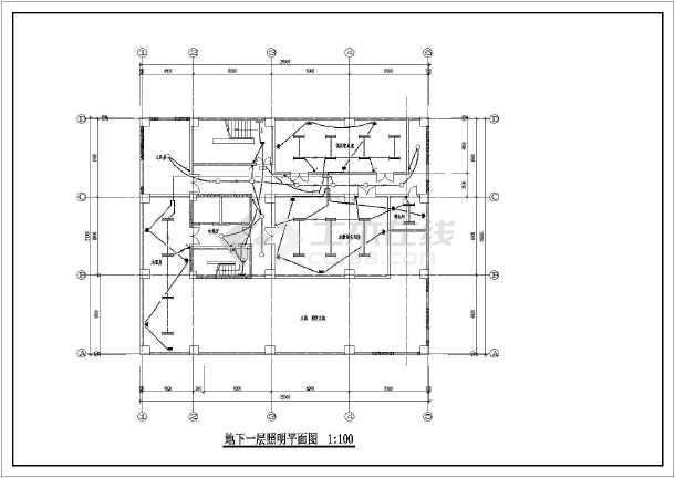 某底商高层住宅强弱电图纸-图1