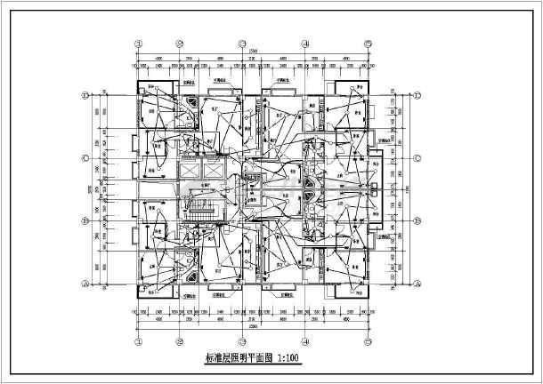 某底商高层住宅强弱电图纸-图2