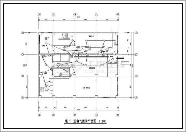 某底商高层住宅强弱电图纸-图3