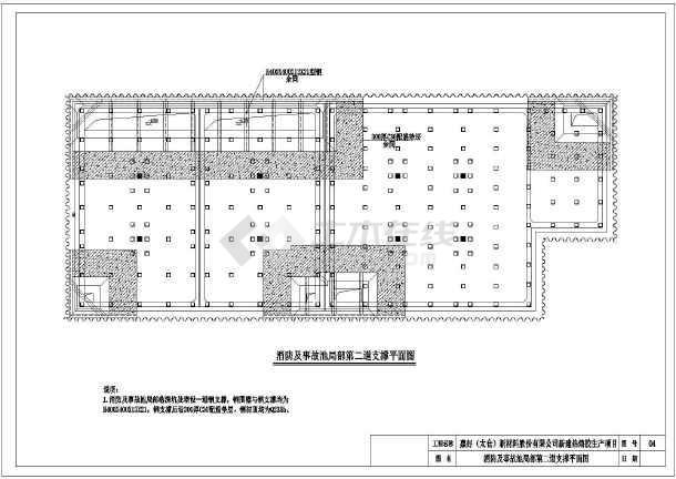 拉森钢板桩基坑围护图纸(共7张)-图3