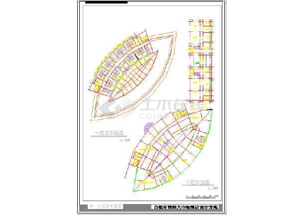某市大酒店建筑设计CAD方案图-图1