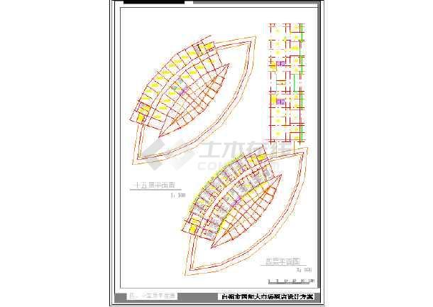 某市大酒店建筑设计CAD方案图-图3