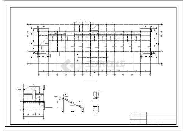 安徽某框架办公楼结构设计图-图1