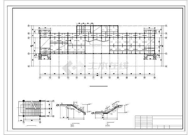 安徽某框架办公楼结构设计图-图2